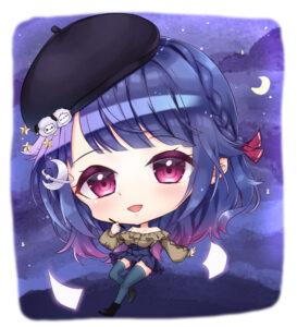 【アイコンイラスト】羊×紫×女の子